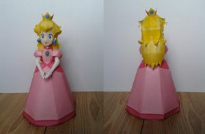 Princess Peach papercraft by Marlous2604