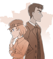 holmes and watson go to paris by Quilofire