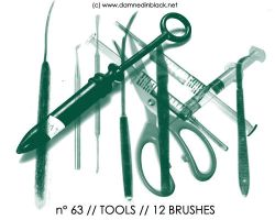PHOTOSHOP BRUSHES : tools by darkmercy