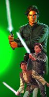 Jacen and Anakin by Synntheticangel