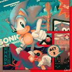 Homage to Sonic 1 (Mega Drive) by MissNeens