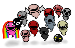 The Binding of Isaac followers and stuff by Gochure
