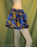 Blue Oriental Dragon Skirt by RedheadThePirate