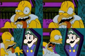 HOMER MEETS WEEGEE! by XPsychotic-Nightmare