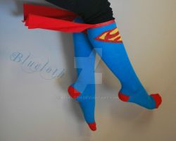 Supergirl socks by Blueloth