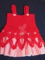 Handmade Girl Crochet Dress by MagicalString