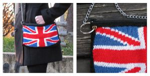 Knitted Great Britain bag by baryshnikova