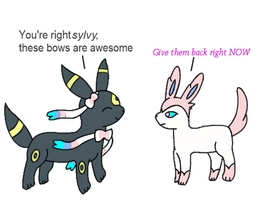 Umbreon And Sylveon by DrewTheRedPoochyena