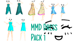 MMD Dress Pack 1 DL by 2234083174