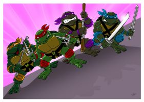Classic Teenage Mutant Ninja Turtles. by scootah91