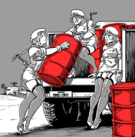 Red Explosive Barrels by Shabazik