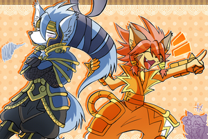 Solatorobo: Can't keep his cool by SoftMonKeychains