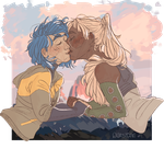 [OOTH] Kiss ya girl on a mountain by Qursidae