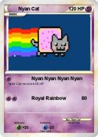 Nyan Cat Pokemon Card by XMuppetSB1989