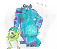 Sully And Mike by copyninja31