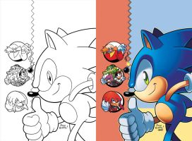 Sonic Super Digest 02 Cover by herms85
