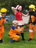 Acen 2010 : Naruto and Sakura by roxastuskiomi