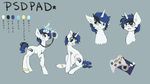 COMMISSION: PSDPad for Shatterfish Reference Sheet by dreampaw