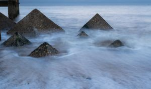 Pyramids of the sea color. by chivt800