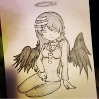 An Angel Daten-shi WIP by CrypticCharmander