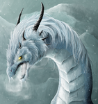 Blizzaragon head shot by Raironu
