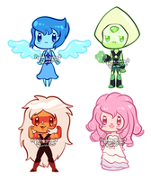 [for sale] Steven Universe: Gem Chibis by prpldragonart