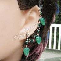 Leaf dangle cartilage earring by merigreenleaf