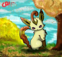 autumn Leafeon by Pand-ASS