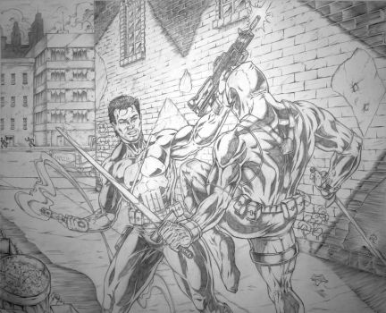 Punisher Vs. Deadpool by Robert A. Marzullo by robertmarzullo