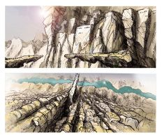 Environmental Concept Sketches by nigelgough