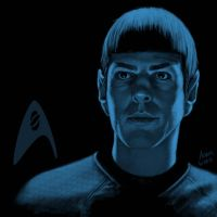 Star Trek portrait series 04 - Spock - Quinto by jadamfox