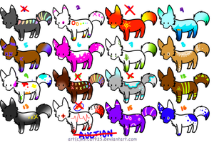 Wolf Adoptables :OPEN: by Mallphilin