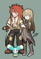 TALES OF THE ABYSS Luke Tear and Mieu by SandikaRakhim