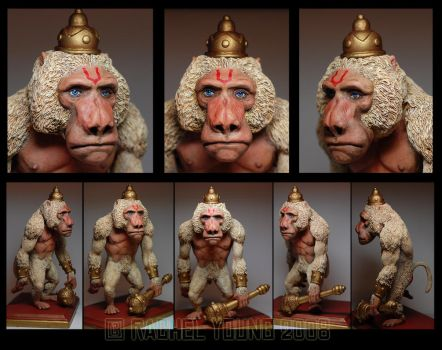 Hanuman's Bad Day: Painted by rgyoung