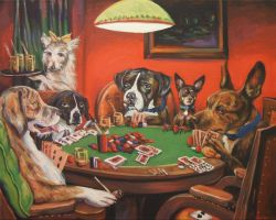 Poker Dogs by wytrab8