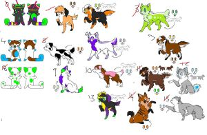 .:Free Adopts CLOSED:. by WinterInsanity26