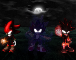Dark Shadow Sonic and Silver by mixlou