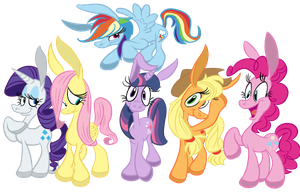 My Little Asses Mane Crew - Coloured by NocturnalMeteor