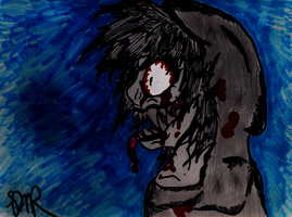 horrorcore jeff the killer sharpie drawing edit by psycholiger13