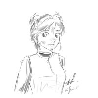 Firefly: Kaylee quick sketch by sharem