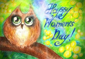 Little owl. Happy Women's Day! by Alexandra-Glazer
