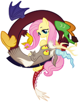 Friendship is Magic: Fluttershy and Discord by Google-Moogle