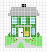 House cross stitch pattern by crawdadEmily