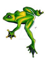 Frog colored by iluv2rock99