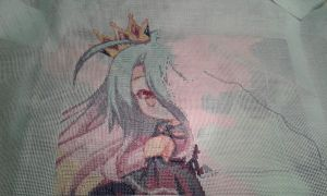 No game No life - Embroidery progres with crown by Zaba1313