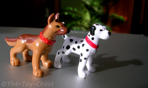 Imaginext Dalmatian And Shepherd Figures by The-Toy-Chest