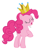 Queen Pinkie Pie by Gratlofatic