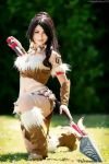 A wind Nidalee appears by Aleeusha