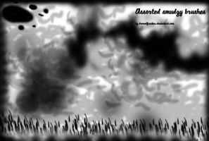 Assorted Smudgy Brushes by DrowElfRocker