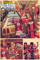 deadpool n' harley quinn vacation by m7781